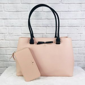 2PCS Kate Spade Maryanne Shoulder Bag Wallet Set